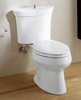 Kohler K-3464-7 Serif Comfort Height Toilet - Black (Pictured in White)