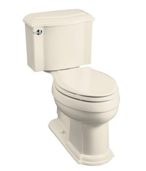 Kohler K-3503-47 Devonshire Comfort-Height Combination Toilet - Almond