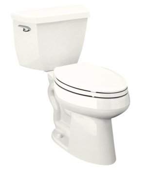 Kohler K-3519-0 Highline Pressure Lite Elongated 1.4 gpf Toilet with Left-hand Trip Lever,Less Seat - White