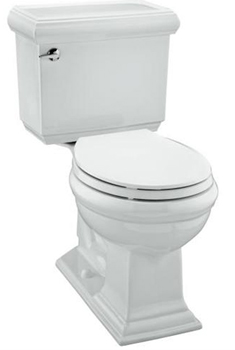 Kohler K-3532-G9 Memoirs Comfort Height Round Front Toilet With Insuliner Tank Liner Classic Design - Sandbar (Pictured in White)