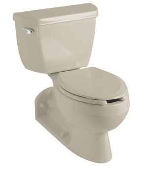 Kohler K-3554-G9 Barrington Two Piece Elongated Toilet with Back Outlet and 4
