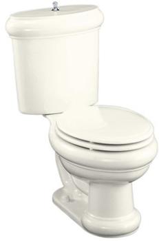 Kohler K-3555-BN-BI Two-Piece Elongated Toilet - Biscuit
