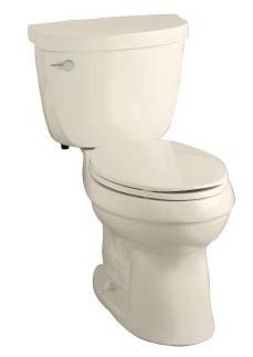 Kohler K-3589-47 Cimarron Comfort Height Elongated 1.6 gpf Toilet with Class Six Technology and Left-Hand Trip Lever - White