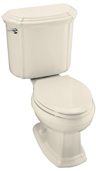 Kohler K-3591-47 Portrait Combination Toilet - Almond