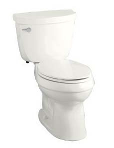Kohler K-3609-0 Cimarron Comfort Height Elongated 1.28 GPF Toilet with Class Six Technology - White