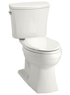 Kohler K-3754-96 Kelston Comfort Height Two-Piece 1.6 gpf Elongated Toilet - Biscuit (Pictured in White)
