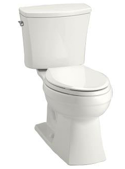 Kohler K-3754-47 Kelston Comfort Height Two-Piece 1.6 gpf Elongated Toilet - Almond (Pictured in White)