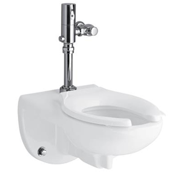 Kohler K-4325-L-0 1.28 Toilet Bowl with Top Spud and Bedpan Lugs Less Seat from the Kingston Series - White
