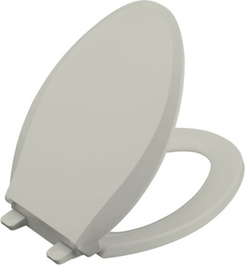 Kohler K-4636-95 Cachet Quiet-Close Quick-Release Toilet Seats - Ice Grey