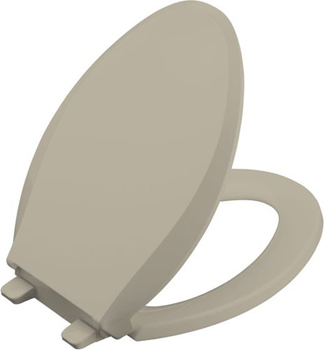 Kohler K-4636-G9 Cachet Quiet-Close Quick-Release Toilet Seats - Sandbar