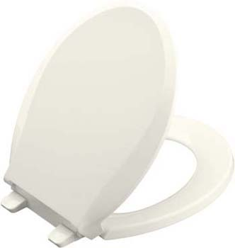 Kohler K-4639-96 Cachet Quiet-Close Quick Release Toilet Seats - Biscuit