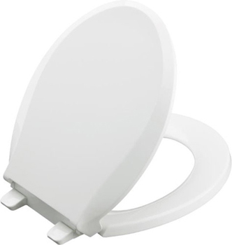 Kohler K-4639-0 Cachet Quiet-Close Quick Release Toilet Seats - White