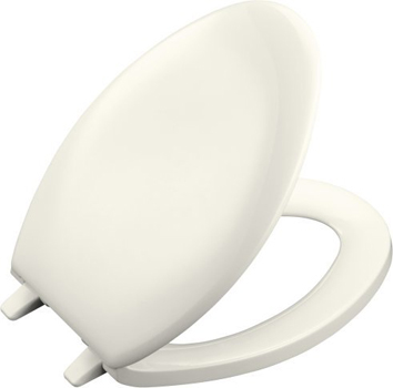 Kohler K-4659-96 Bancroft Traditional Elongated Closed Front Toilet Seat - Biscuit