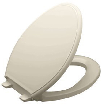 Kohler K-4733-G9 Glenbury Quiet-Close Elongated Toilet Seat With Quick-Release Functionality - Sandbar