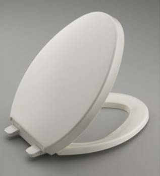 Kohler K-4748-96 Saile Quiet-Close Quick-Release Toilet Seat - Biscuit