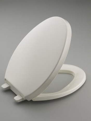 Kohler K-4748-0 Saile Quiet-Close Quick-Release Toilet Seat - White (Pictured in Biscuit)