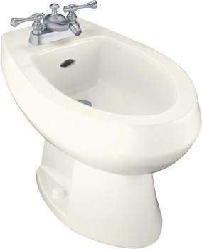 Kohler K-4876-0 Amaretto Single-Hole Bidet - White