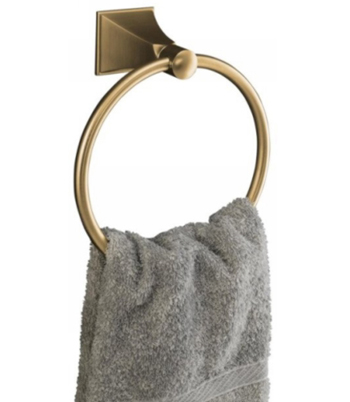 Kohler K-487-BV Memoirs Towel Ring - Brushed Bronze