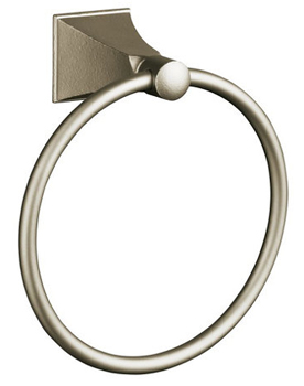 Kohler K-487-RN Memoirs Towel Ring - Hammered Nickel