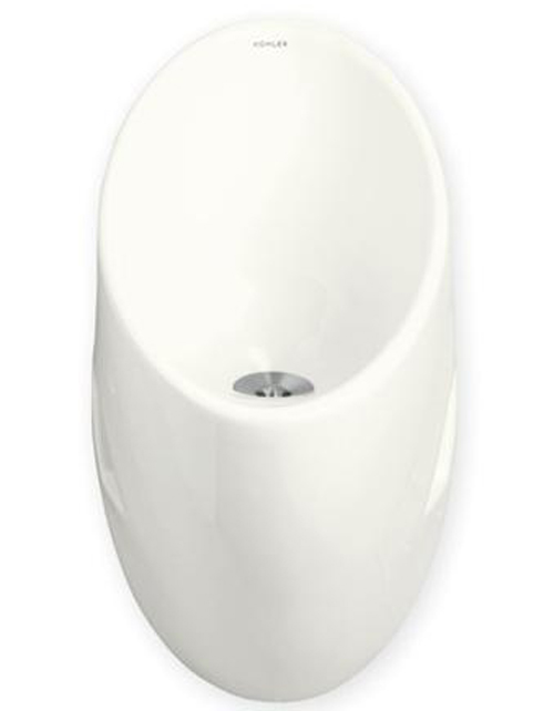 Kohler K-4917-NA Steward S Waterless Urinal - White