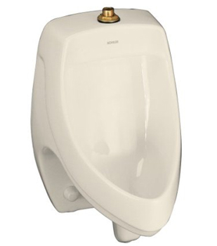 Kohler K-5016-ET-47 Dexter Elongated Urinal with Top Spud - Almond