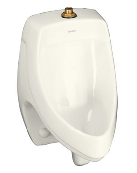 Kohler K-5016-ET-96 Dexter Elongated Urinal with Top Spud - Biscuit