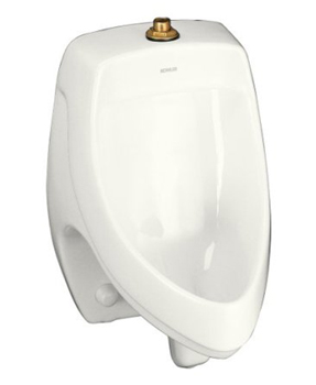 Kohler K-5016-ET-0 Dexter Elongated Urinal with Top Spud - White