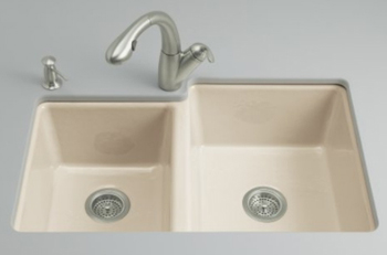 Kohler K-5814-4U-47 Clarity Undercounter Kitchen Sink - Almond (Faucet and Accessories Not Included)