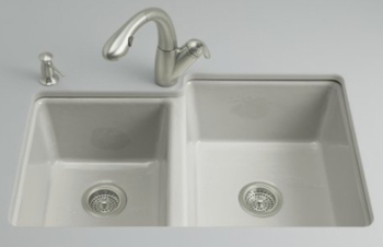 Kohler K-5814-4U-95 Clarity Undercounter Kitchen Sink - Ice Grey