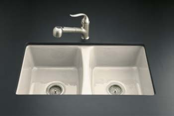 Kohler K-5815-5U-47 Deerfield Undercounter Kitchen Sink - Almond