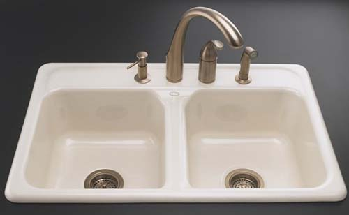 Delicieux Kohler K 5817 4 96 Delafield Self Rimming Kitchen Sink With 4