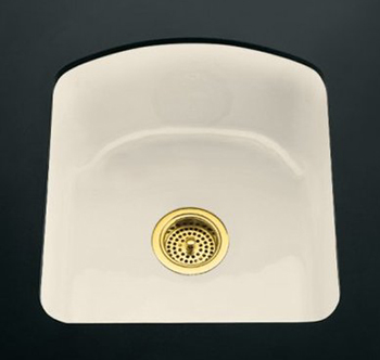 Kohler K-5848-2U-47 Napa Undercounter Entertainment Sink - Almond