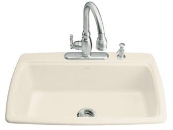kohler k 5863 4 47 cape dory self rimming kitchen sink