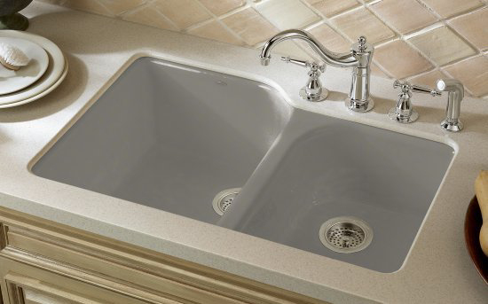 Exceptional Kohler K 5931 4U K4 Executive Chef Undercounter Kitchen Sink   Cashmere (