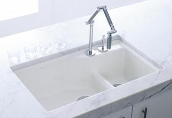 Kohler K-6411-3-0 Undercounter Basin Kitchen Sink with Three-Hole ...