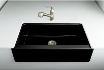 Kohler K-6546-4U-7 Dickinson Undercounter Apron-Front Kitchen Sink ...
