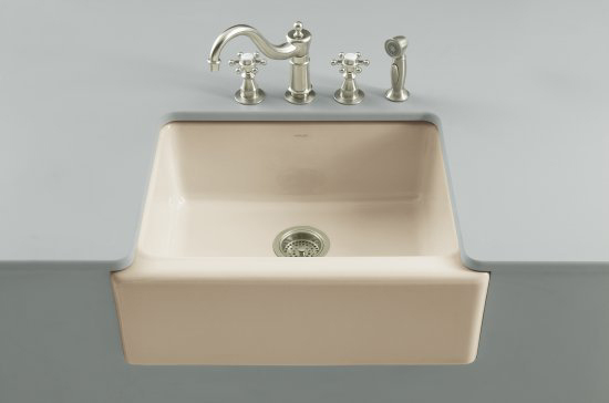 Kohler K-6573-5U-47 Alcott Apron-Front Undercounter Sink - Almond (Faucet Not Included)