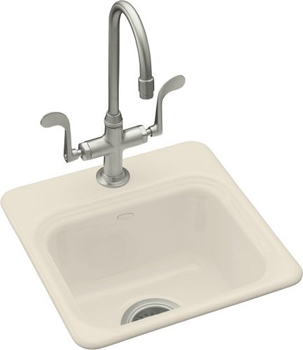 Kohler K-6579-2-47 Northland Self-Rimming Entertainment Sink With 2-Hole Faucet Drilling - Almond