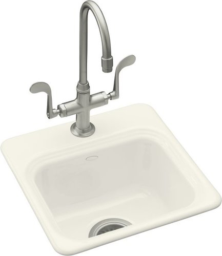 Kohler K-6579-2-96 Northland Self-Rimming Entertainment Sink With 2-Hole Faucet Drilling - Biscuit