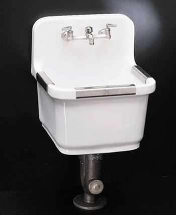 Kohler K-6650-0 Sudbury Vitreous China Utility Sink - White (Faucet Not Included)