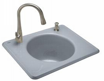 Kohler K-6654-2-FE Tandem Utility Self Rimming Sink Two Hole - Frost