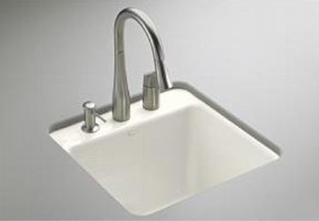 Kohler K-6655-1U-96 Park Falls Undercounter Utility Sink - Biscuit (Faucet and Accessories Not Included)