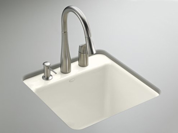 Kohler K-6655-2U-0 Park Falls Undercounter Sink - White (Faucet and Accessories Not Included)