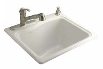 Kohler K-6657-2R-96 River Falls Utility Self Rimming Sink - Biscuit
