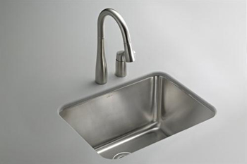 Kohler K-6661-NA Undertone Undercounter Utility Sink - Stainless Steel (Faucet and Accessories Not Included)