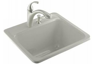 Kohler K-6663-3-95 Glen Falls Self Rimming Utility Sinks - Ice Grey