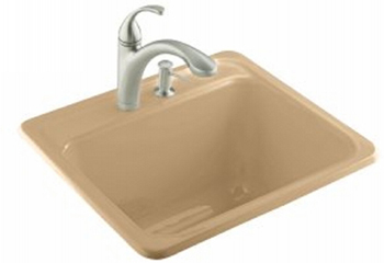 Kohler K-6663-3-33 Glen Falls Self Rimming Utility Sinks - Mexican Sand