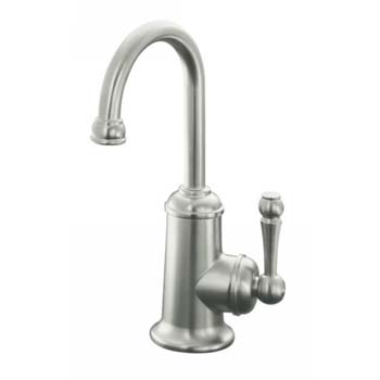 Kohler K-6666-F-VS Cold Only Single Handle Basin Tap with Filtration System - Stainless Steel