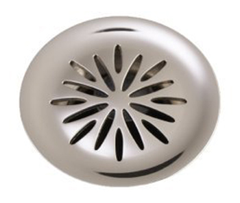 Kohler K-7107-CP Decorative Lavatory Grid Drain with Flower Design - Polished Chrome