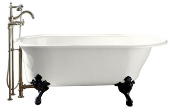 Kohler K-710-W-0 Iron Works Historic Bath With White Exterior - White
